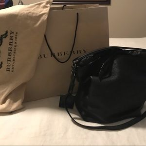 Burberry- soft leather bucket handbag